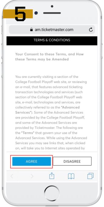 Mobile Tickets - College Football Playoff